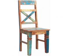 SIT 4-Fußstuhl Riverboat, im 2er-Set, Shabby Chic, Vintage bunt 4-Fuß-Stühle Stühle Sitzbänke