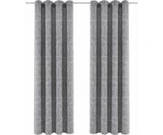 my home Vorhang Zary grau Wohnzimmergardinen Gardinen nach Räumen Vorhänge