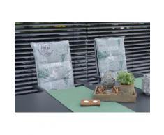 GO-DE Sesselauflage, 120 x 50 cm, hoch grau Gartenstuhlauflagen Gartenmöbel-Auflagen Gartenmöbel Gartendeko Sesselauflage
