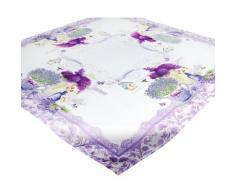 Delindo Lifestyle Mitteldecke Lavendel TÖPFCHEN, (1 St.), Strukturgewebe, bedruckt lila Mitteldecken Tischwäsche