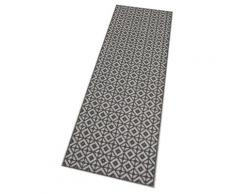 Küchenläufer, Bona, Zala Living, rechteckig, Höhe 5 mm, maschinell getuftet grau Küchenläufer Läufer Bettumrandungen Teppiche