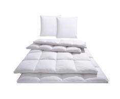 Bettdecke + Kopfkissen, Star, Otto Keller, (Spar-Set) weiß Daunendecke Bettdecken Bettdecken, Kopfkissen Unterbetten Bettwaren-Sets