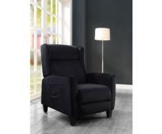 ATLANTIC home collection TV-Sessel Timo, klassischer Ohrensessel mit moderner Relaxfunktion und praktischer Seitentasche schwarz Fernsehsessel Sessel