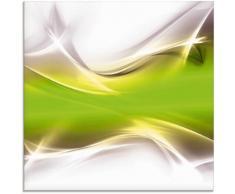 Artland Glasbild Kreatives Element, Gegenstandslos, (1 St.) grün Glasbilder Bilder Bilderrahmen Wohnaccessoires