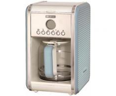 Ariete Filterkaffeemaschine Vintage 1342, blau, Permanentfilter, Startzeit Kaffeezubereitung programmierbar und Unterbrechung der Zubereitung blau Kaffee Espresso SOFORT LIEFERBARE Haushaltsgeräte