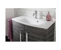 FACKELMANN Einbauwaschbecken Lugano, Glas, Breite 80 cm weiß Waschbecken Bad Sanitär