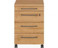 GERMANIA Rollcontainer GW-Agenda, mit abschließbarer Schublade beige Büroschränke Büromöbel