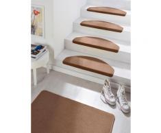 HANSE Home Stufenmatte Fancy, halbrund, 7 mm Höhe, große Farbauswahl, 15 Stück in einem Set braun Stufenmatten Teppiche