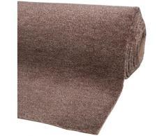 Andiamo Teppichboden Catania, rechteckig, 8 mm Höhe, Meterware, Breite 500 cm, uni, schallschluckend braun Bodenbeläge Bauen Renovieren