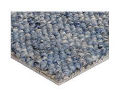 Bodenmeister Teppichboden Korfu, rechteckig, 8 mm Höhe blau Bodenbeläge Bauen Renovieren