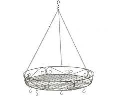 Hängekorb Deckenkranz Antik, Ø 60 cm schwarz Körbe Boxen Regal- Ordnungssysteme Küche Ordnung