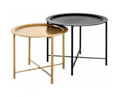 HAKU Satztisch schwarz Beistelltische Tische Tisch