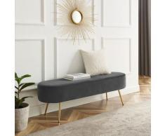 Leonique Bettbank Zirkon, Polsterbank in 3 Farben und Breiten erhältlich, auch als Garderobenbank geeignet grau Bettbänke Sitzbänke Stühle