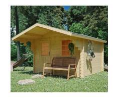 Kiehn-Holz Gartenhaus, Burgberg 1, (Set) beige Gartenhäuser Garten Balkon