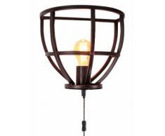 Brilliant Leuchten Matrix Wandleuchte Zuleitung und Schalter schwarz stahl Wandleuchten SOFORT LIEFERBARE Lampen