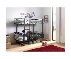 Vipack Etagenbett Oscar schwarz Kinder Kinderbetten Kindermöbel