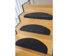 Stufenmatte Buffalo Living Line stufenförmig Höhe 15 mm maschinell getuftet, grau, Neutral, anthrazit