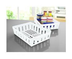 Ruco Aufbewahrungskorb (Set, 4 Stück) weiß Küchen-Ordnungshelfer Küchenhelfer Küche Aufbewahrungsboxen