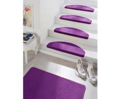 Stufenmatte Fancy HANSE Home stufenförmig Höhe 7 mm maschinell getuftet, lila, lila