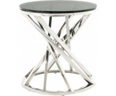Kayoom Beistelltisch Wesley 125, schöne gedrehte Form schwarz Beistelltische Tische