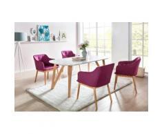 SalesFever Essgruppe (Set, 5-tlg) lila Essgruppen Tische Sitzmöbel-Sets