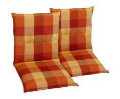 GO-DE Sesselauflage orange Gartenstuhlauflagen Gartenmöbel-Auflagen Gartenmöbel Gartendeko