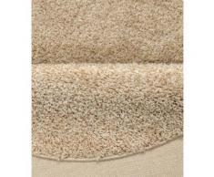 Home affaire Hochflor-Teppich Shaggy 30, rund, 30 mm Höhe, gewebt, Wohnzimmer grau Schlafzimmerteppiche Teppiche nach Räumen