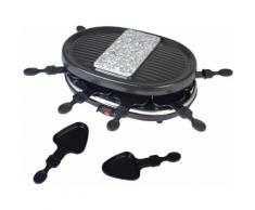 Team Kalorik Raclette TKG RAC 1003, 8 Raclettepfännchen, 900 Watt schwarz Küchenkleingeräte Haushaltsgeräte