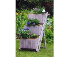dobar Pflanzentreppe, BxTxH: 41x55x85 cm grau Pflanzentreppe Pflanzgefäße Blumenvasen Wohnaccessoires