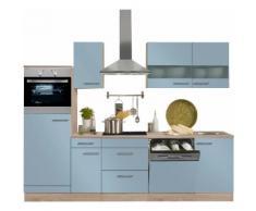OPTIFIT Küchenzeile mit E-Geräten »Kalmar«, Breite 270 cm, blau, lichtblau