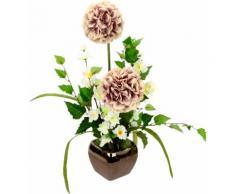 I.GE.A. Kunstblume Arrangement Allium, Topf aus Keramik rosa Künstliche Zimmerpflanzen Kunstpflanzen Wohnaccessoires