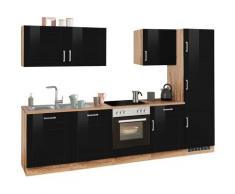HELD MÖBEL Küchenzeile Tinnum, ohne E-Geräte, Breite 300 cm schwarz Küchenzeilen Küchenblöcke Küchenmöbel Möbel sofort lieferbar
