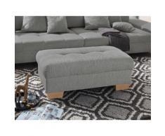 Nova Via Hocker, wahlweise mit Kaltschaum (140kg Belastung/Sitz), AquaClean-Stoff für leichte Reinigung Wasser und Bettfunktion / Bettkasten braun Hocker Möbel Aufbauservice