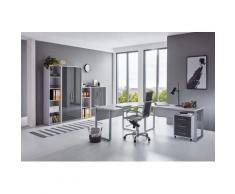 BMG Büro-Set Tabor Office 4, (Set, 8 St.) grau Arbeitszimmer Büro Made in Germany - Möbel