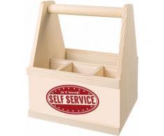 Contento Besteckträger Self Service beige Küchen-Ordnungshelfer Küchenhelfer Küche Besteckkörbe