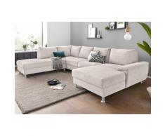 exxpo - sofa fashion Wohnlandschaft, silberfarben, silber