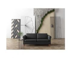 machalke 2,5-Sitzer amadeo, Ledersofa mit geschwungenen Armlehnen, Breite 180 cm schwarz Einzelsofas Sofas Couches Wohnzimmer