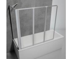 Schulte Badewannenaufsatz Komfort, BxHxT: 127 x 121 70 cm, zum Kleben oder Bohren silberfarben Duschwände Duschen Bad Sanitär