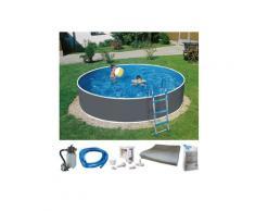 KONIFERA Rundpool Standard (Set) grau Swimmingpools Pools Planschbecken Garten Balkon