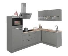 OPTIFIT Winkelküche Elga, grau, basaltgrau/basaltgrau