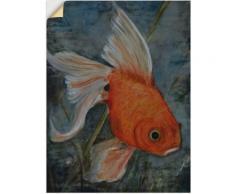 Artland Wandbild Feng Shui - Goldfisch orange Bilder Bilderrahmen Wohnaccessoires