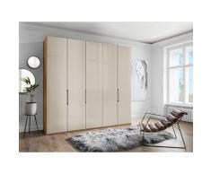 WIEMANN Falttürenschrank Monaco, mit Glasfront sowie hochwertige Beschläge beige Kleiderschränke Schränke Vitrinen Möbel sofort lieferbar
