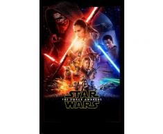 Komar Fototapete Star Wars EP7 Official Movie Poster 120/200 cm, bunt, bunt