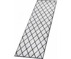 Zala Living Läufer Scale, rechteckig, 7 mm Höhe, In- und Outdoor geeignet schwarz Teppichläufer Bettumrandungen Teppiche