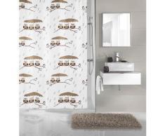 Kleine Wolke Duschvorhang Eulen, Breite 180 cm, (1 tlg.), mit Besfestigungsringen weiß Duschvorhänge Duschen Bad Sanitär