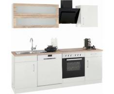 HELD MÖBEL Küchenzeile Utah, ohne E-Geräte, Breite 220 cm weiß Küchenzeilen Geräte -blöcke Küchenmöbel