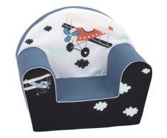 Knorrtoys Sessel Plane, Made in Europe blau Kinder Kindersessel Kindersofas Kindermöbel