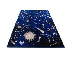 Lüttenhütt Kinderteppich Alena, rechteckig, 14 mm Höhe, für Kinder und Jugendzimmer blau Bunte Kinderteppiche Teppiche