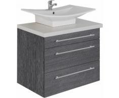 MARLIN Waschtisch Laos 3110, Breite 80 cm, Farbe Waschtischplatte & Waschbeckenart wählbar grau Waschtische Badmöbel