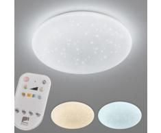 EGLO LED Deckenleuchte GIRON - TW, LED-Modul, 1 St., Farbwechsler, Deckenlampe Ø 40 cm, Kristalleffekt / Sternenhimmel, Fernbedienung, Farbtemperatur einstellbar 2700-6500 Kelvin, Nachtlicht, Dimmbar weiß LED-Lampen LED-Leuchten Lampen Leuchten sofort...